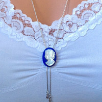 Something Blue for Bride-Something Old-Bridal Pearl Necklace