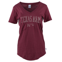 NCAA- Texas A & M Aggies Women's Slouch Pocket V-Neck Tee