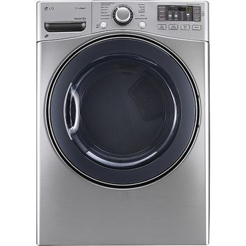 LG - TrueSteam 7.4 Cu. Ft. 12-Cycle Electric Dryer with Steam - Graphite Steel
