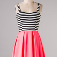 Bright Lights Dress - Pink and Black - Hazel & Olive