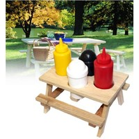 Thumbs Up MINIPICCONDTABLE Picnic Table Condiment Set