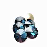 Six Montana 1122 12mm Foiled Swarovski Pointed Back Rivoli DKSJewelrydesigns