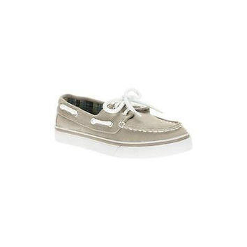 Boys' Boat Shoes, 2, Tan/White Faded Glory