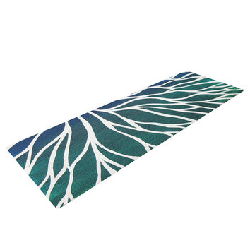 "NL Designs ""Ocean Flower"" Teal Green Yoga Mat"