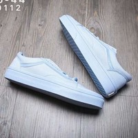 Vans Fashion Casual Classic Slip-on Print Canvas Leisure Shoes For Women Men Light G-A-YYMY-XY