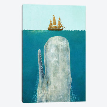 """The Whale by Terry Fan Canvas Print 40"""" L x 60"""" H x 1.5"""" D"""