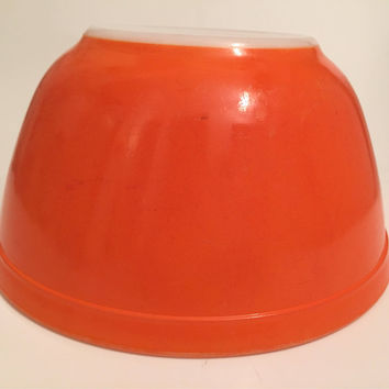 Orange Pyrex 402 Mixing Bowl, Vintage Pyrex Nesting Bowl