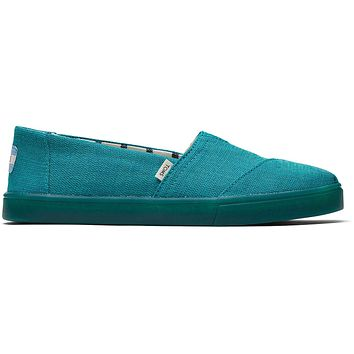 TOMS - Women's Cupsole Venice Collection Classics Green Lake Heritage Canvas Slip-Ons