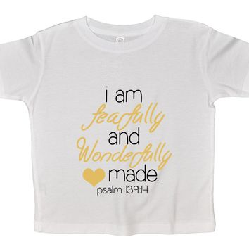 I Am Fearfully And Wonderfully Made Funny Kids Onesuit