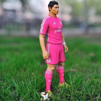 """Free Shipping Soccer 7# Cristiano ronaldo(RM) 2.5"""" Action figure Doll Toy Figure 18cm international football star PVC puppets"""