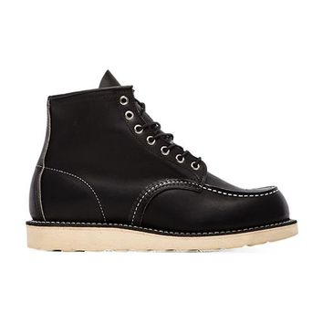 "Red Wing Shoes 6"" Moc Toe in Black"
