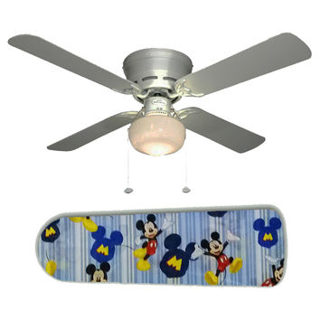 """Mickey Mouse Stripes 42"""" Ceiling Fan and Lamp"""