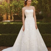 Casablanca Bridal 2051 Lace A Line Wedding Dress