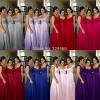 SS80 Cap Sleeve Royal Blue, Wine red, Red, Sliver, Meat Pink, Lace Applique Beads New Arrival Bridesmaid Dress