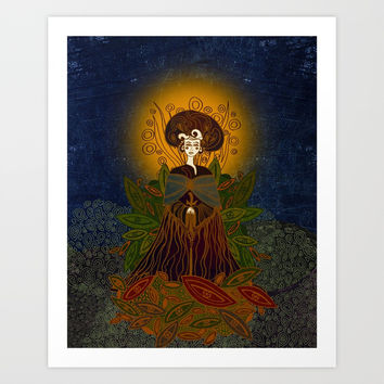 Mother Earth Art Print by vivianagonzlez