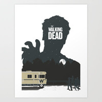 The Walking Dead Art Print by Brandon Riesgo