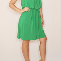 Bright green dress Green Bridesmaid dress Short dress Party dress