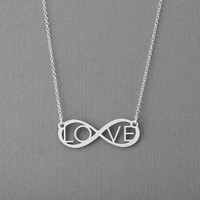 Infinity Necklace, Eternal Love Necklace, Eternity Jewelry, Infinity Pendant, Love Charm, Gift For Wife