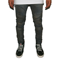The Reign Vintage Moto Biker Denim Jeans