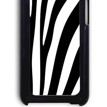IPod 4 Case - Hard (PC) Cover with Zebra Stripes Plastic Case Design