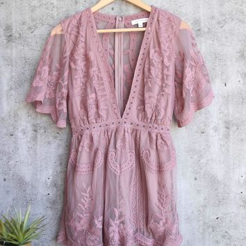 As You Wish Embroidered Lace Romper (women)   More Colors