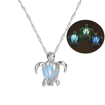 For Animal Cute Turtle pendant Necklace Glowing in the dark Charm Jewelry pendant 1pcs