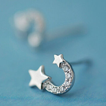 womens 925 silver earring girl ear stud christmas gift 07