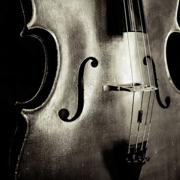 A Cello Solo Fine Art Photography Cello Music Notes Instruments Musical Photo Print Classical Wall Decor Music Lover Gift Black and White