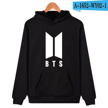 BTS Kpop Moletom Harajuku Hoodies Women Popular Bangtan Hip Hop Sweatshirt Women Long Winter Female Fans Hip Hop Casual Clothes