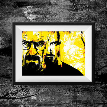 Breaking Bad Print -  Walter White Jesse Pinkman print - breaking bad Movie Wall Art decor