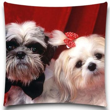 Cute dog lovers Pillows Nice Decoration for House Office, Coffee Shop, etc.