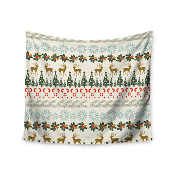 "Famenxt ""Christmas Vibes"" Holiday Pattern Wall Tapestry"