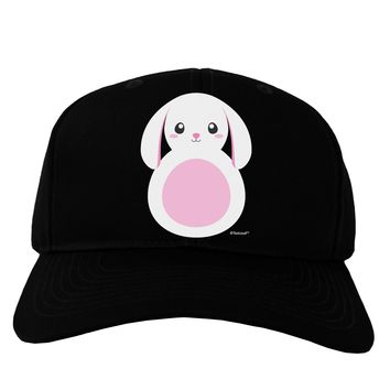 Cute Bunny with Floppy Ears - Pink Adult Dark Baseball Cap Hat by TooLoud
