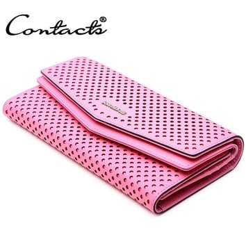 Ladies Casual Bags Multi-function Korean Hollow Out Wallet [9338183879]