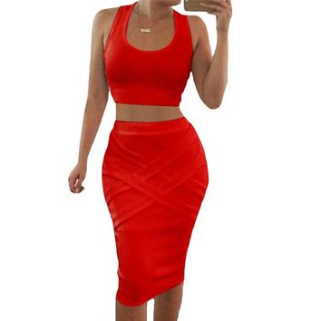 *Online Exclusive* 2 Piece Set Bodycon Dress