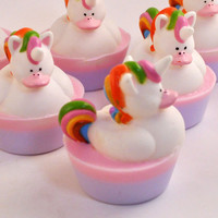 Unicorn Rubber Duck Soap by pinkparchmentsoaps on Etsy