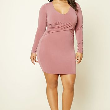Plus Size Knot Bodycon Dress