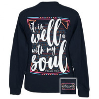 SALE Girlie Girl Southern Originals Well With My Soul Faith Long Sleeve T-Shirt