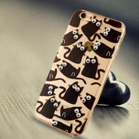 Limited Edition Black Cat Silicone iPhone 5s 6 6s Plus Case Cover