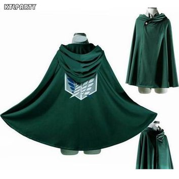 Cool Attack on Titan Adult children  no  Survey Corps cape Eren Yeager Rivaille Hoodie Wings of dom costume cloak AT_90_11