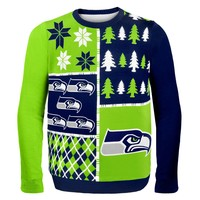 Seattle Seahawks - Busy Block Ugly Sweater