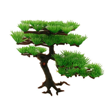 Artificial Plant Plstic Pine Tree Aquarium Fish Tank Rockery Bonsai Accessories Hotel Ornament Decor