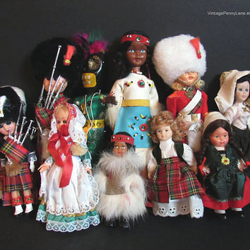 Vintage Doll Collection Lot, Ethnic / Souvenir, Native American, Voodoo