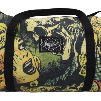 Liquorbrand Horror B Movie cartoon Oversized Duffle Bag