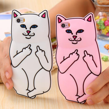 3D Pocket Cat Silicone Case For iPhone 5s 7 6 6s Plus Cute Cartoon Funny Phone Cover For iPhone7 6 6s 5s 5 SE Shells -0315