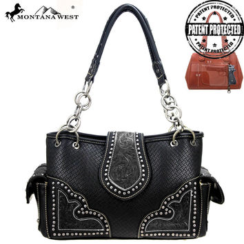Montana West PAG-8085 Concealed Carry Tooling Handbag