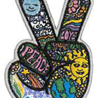 Iconic Dan Morris Peace Sign Patch