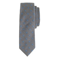 J.Crew Mens Italian Silk-Wool Tie In Diamond Foulard