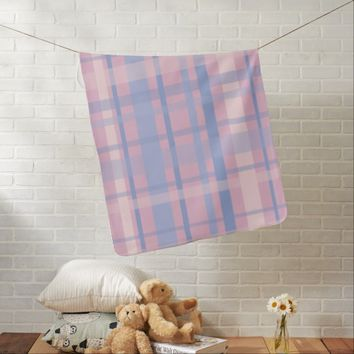 Pastel Plaid Receiving Blanket
