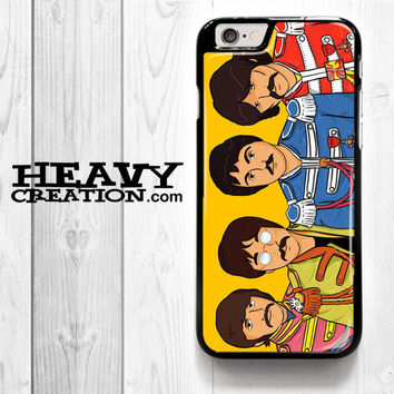 Beatles Sgt Pepper Cartoon for iPhone 4 4S 5 5S 5C 6 6 Plus , iPod Touch 4 5  , Samsung Galaxy S3 S4 S5 S6 S6 Edge Note 3 Note 4 , and HTC One X M7 M8 Case